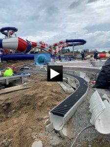 Vodní atrakce Aqualand Moravia se štěrbinovým odvodněním MEA TSH