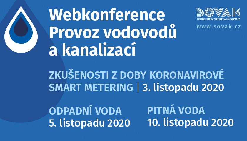 Registrace na webkonferenci Provoz vodovodů a kanalizací je zahájena!