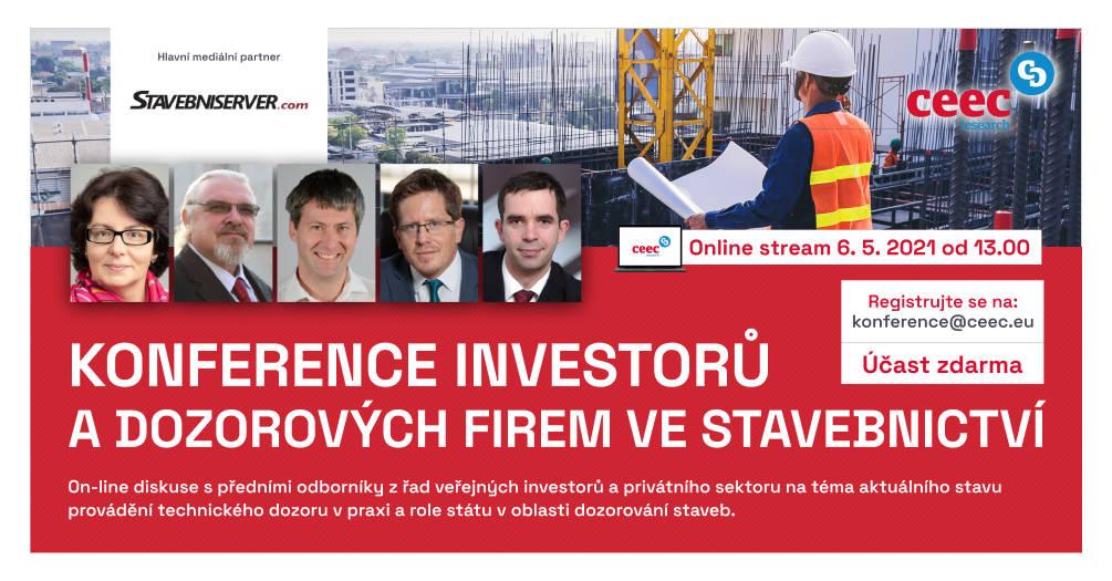 Konference investorů a dozorových firem ve stavebnictví - od 13:00.