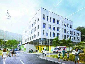 Novostavba pavilonu nemocnice v Pelhřimově pod autorským dozorem OBERMEYER HELIKA úspěšně pokračuje