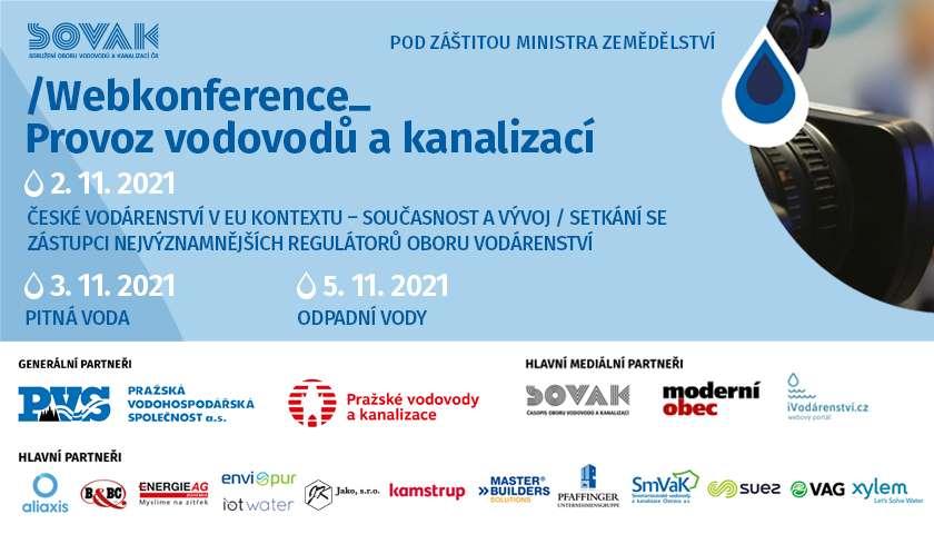 Přihlašujte se na 19. ročník konference Provoz vodovodů a kanalizací